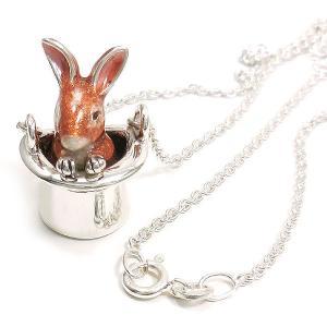 ネックレス レディース 帽子 ウサギ ブラウン ペンダント シルバー925|entiere|05