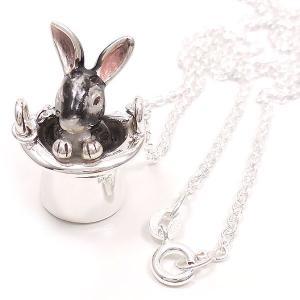 ネックレス レディース 帽子 ウサギ グレー ペンダント シルバー925|entiere|05