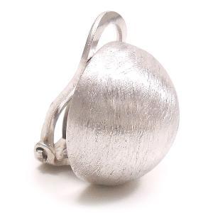 シャイニーボンボン シルバーイヤリング 14mm玉 サテナート ロジウムメッキ|entiere|02