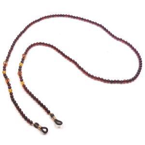 琥珀 メガネチェーン 眼鏡チェーン チェリーカラー 68cm entiere