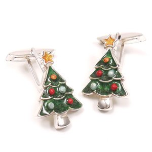 カフスボタン カフリンクス クリスマスツリー シルバー925 サツルノ|entiere