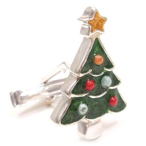 カフスボタン カフリンクス クリスマスツリー シルバー925 サツルノ|entiere|02