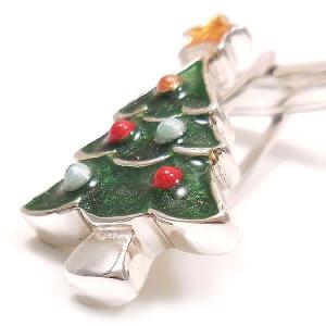 カフスボタン カフリンクス クリスマスツリー シルバー925 サツルノ|entiere|03