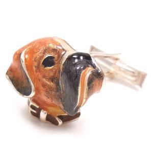 カフスボタン カフリンクス 犬 ボクサー シルバー925 サツルノ entiere 02