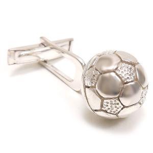 カフスボタン カフリンクス サッカーボール シルバー925 サツルノ|entiere|02
