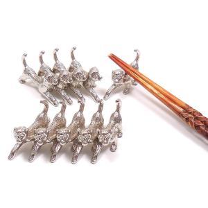 業務用 猿の箸置き 銀色10個セット ギフト不可|entiere