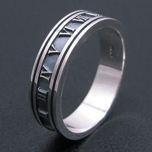 リング 指輪 シルバー925 ローマ数字 アトラス 21号 メンズ|entiere