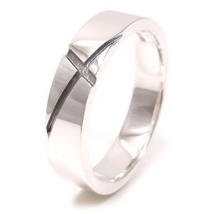 リング 指輪 シルバー925 クロス模様 17号 メンズ|entiere