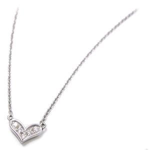 ネックレス レディース 小さなハート ペンダント ダイヤモンド シルバー925|entiere