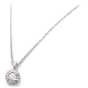 ネックレス レディース 小さな丸型トップ シルバー925 ダイヤモンド|entiere