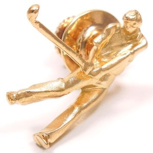 ピンブローチ ラペルピン ゴルファー シルバー925 ゴールドカラー|entiere|02