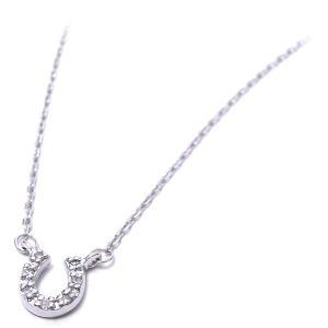 ネックレス レディース 馬蹄 ペンダント ダイヤモンド シルバー925|entiere
