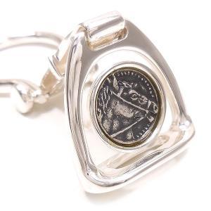 キーリング キーホルダー シルバー925 鐙 イタリア製 サツルノ レディース メンズ プレゼント ギフト|entiere|02
