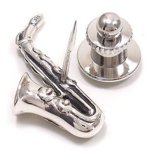 ピンブローチ ラペルピン 楽器 サックス シルバー925 サツルノ|entiere|05