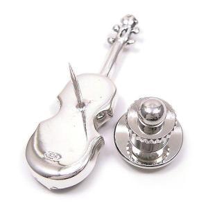 ピンブローチ ラペルピン 楽器 バイオリン エナメルあり シルバー925 サツルノ entiere 04