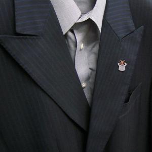 ピンブローチ ラペルピン 帽子 ネコ はちわれ 茶 シルバー925 サツルノ|entiere|06