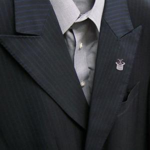 ピンブローチ ラペルピン 帽子 ネコ はちわれ 灰 シルバー925 サツルノ|entiere|06