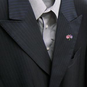 ピンブローチ ラペルピン 花 フラワー 朝顔 ピンク/紫 シルバー925 サツルノ|entiere|06