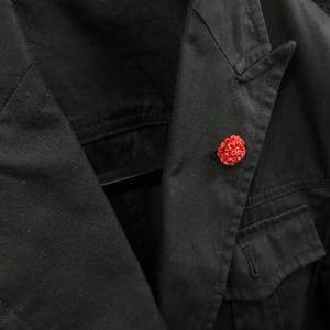 ピンブローチ ラペルピン 花 フラワー カーネーション レッド シルバー925 サツルノ|entiere|06