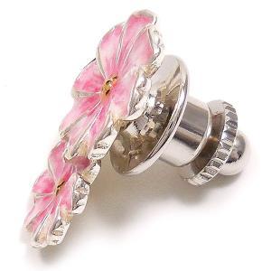 ピンブローチ ラペルピン 花 フラワー コスモス ピンク&白 シルバー925 サツルノ|entiere|03