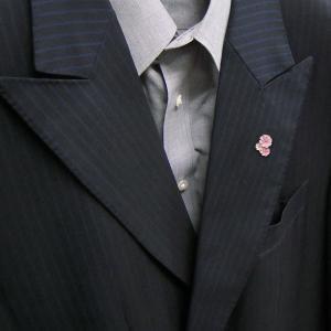ピンブローチ ラペルピン 花 フラワー コスモス ピンク&白 シルバー925 サツルノ|entiere|06