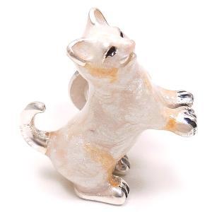 ピンブローチ ラペルピン ネコ 白猫 シルバー925 サツルノ|entiere|02