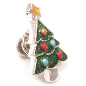 ピンブローチ ラペルピン クリスマスツリー シルバー925 サツルノ|entiere|02