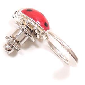 ピンブローチ ラペルピン グラスホルダータイプ シルバー925 てんとう虫 イタリア製 サツルノ メンズ レディース entiere 04