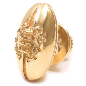 ピンブローチ ラペルピン シルバー925 アメフト ラグビー ボール 金色メッキ イタリア製 サツルノ メンズ プレゼント ギフト|entiere