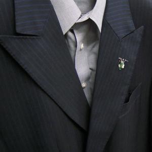 ピンブローチ ラペルピン シルバー925 ゴルフバッグ グリーン イタリア製 サツルノ メンズ レディース プレゼント ギフト entiere 06
