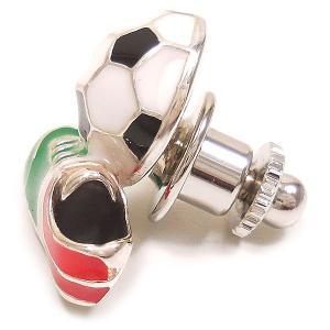 ピンブローチ ラペルピン サッカーボール スパイク イタリアカラー シルバー925 サツルノ|entiere|03