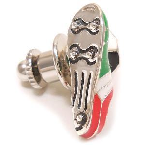 ピンブローチ ラペルピン サッカーボール スパイク イタリアカラー シルバー925 サツルノ|entiere|04