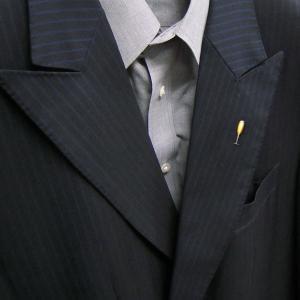 ピンブローチ ラペルピン シャンパングラス エナメル彩色 シルバー925 サツルノ|entiere|06