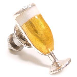 ピンブローチ ラペルピン ビールグラス エナメル彩色 シルバー925 サツルノ|entiere|02