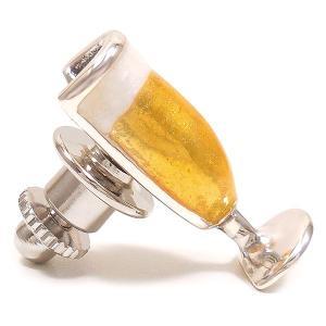 ピンブローチ ラペルピン ビールグラス エナメル彩色 シルバー925 サツルノ|entiere|03