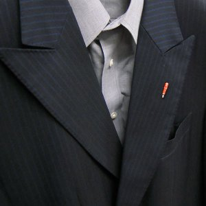ピンブローチ ラペルピン シルバー925 ペン 万年筆 オレンジ イタリア製 サツルノ メンズ レディース|entiere|06