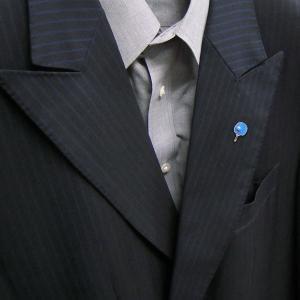 ピンブローチ ラペルピン 卓球 ラケット ブルー エナメル彩色 シルバー925 サツルノ entiere 05