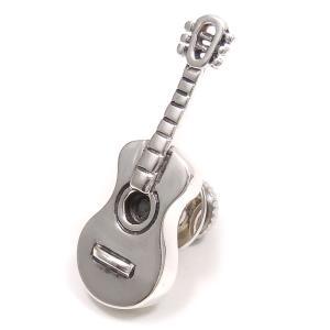 ピンブローチ ラペルピン シルバー925 楽器 ギター イタリア製 サツルノ メンズ レディース プレゼント ギフト|entiere