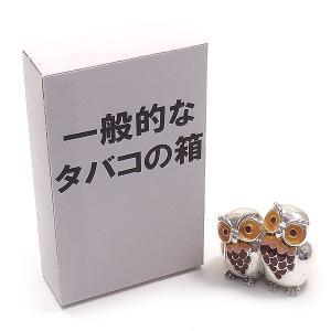 置き物 オブジェ フクロウのつがい ミミズク シルバー925 エナメル彩色 サツルノ|entiere|06