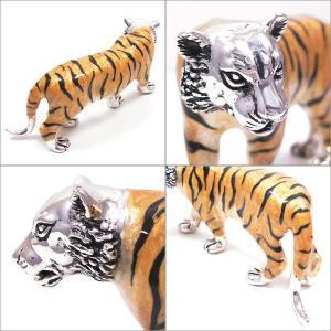 置き物 オブジェ 虎 Mサイズ シルバー925 エナメル彩色 サツルノ|entiere|02