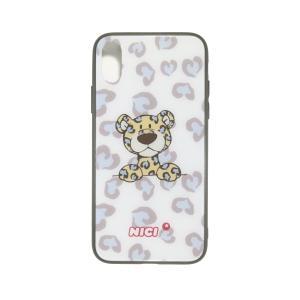 スマホケース スマートフォン カバー ケース 携帯 NICI ニキ iPhone背面型ケース X レパードブルー|entresquare