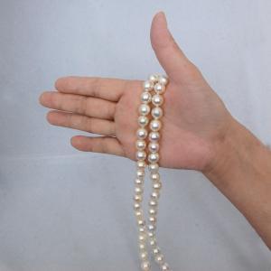 アコヤ真珠 大珠 9mm  バロック 連 一本 ビーズ アクセサリー制作素材