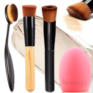 ファンデーションブラシ 歯ブラシ型 ベースメイクブラシ 毛穴が消えると噂の メイクブラシ3本セット 化粧ブラシ ブラシウォッシュ付 送料無料|eooplushop