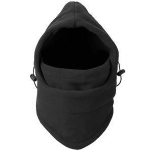 ブラック フェイスマスク スノボ スキー ファンクションマスク 防寒 防風 厚手 起毛 バイク 自転車|eooplushop