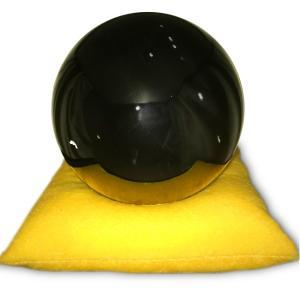 オブシディアン 大黒石 黒耀石 直径13cm obsidian 風水 送料無料|eooplushop