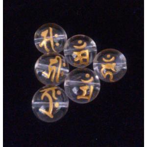 1粒売 干支梵字 水晶 直径12mm珠 梵字金刻印 送料無料|eooplushop