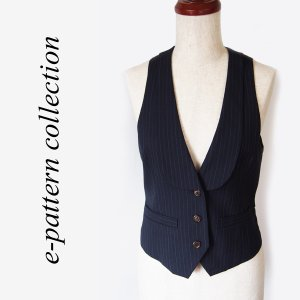 (型紙・パターン) 衿付き3つ釦ベスト型紙