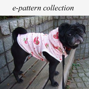 (型紙・パターン) 犬服・袖なしパーカー型紙・小型犬用