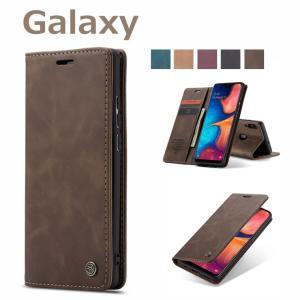 Galaxy A30 財布型ケース カード収納 ギャラクシー A30 手帳型カバー スタンド 耐衝撃...