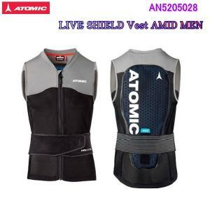 ATOMIC<2020>LIVE SHIELD Vest AMID MEN◆BlackGreyボディプロテクター AN5205028